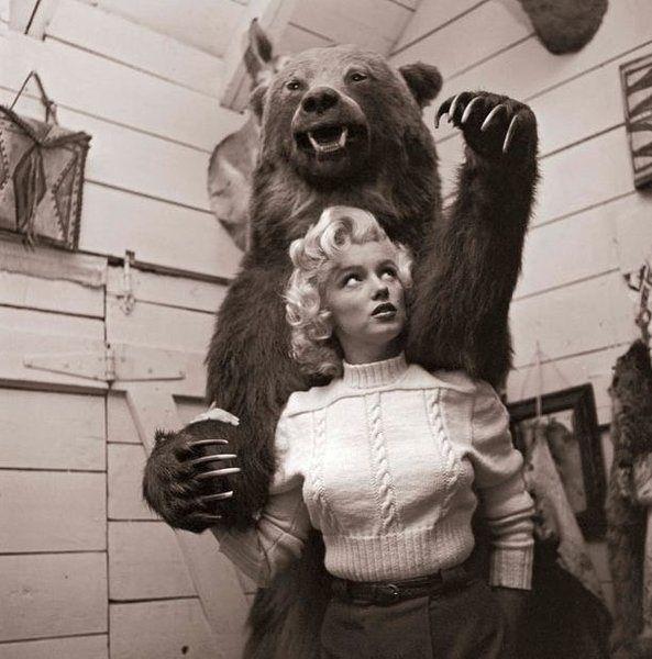 Marilyn and a Bear