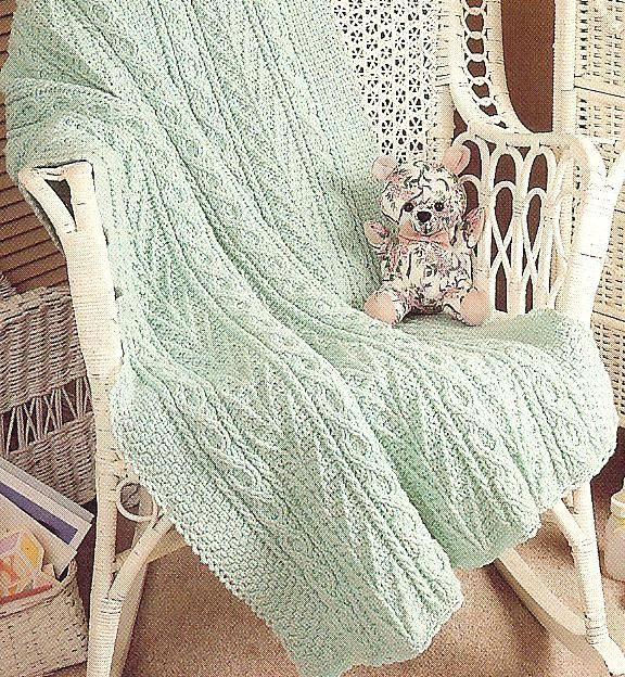 Aran Afghan Crochet Patterns Double Quick Aran Afghan Crochet