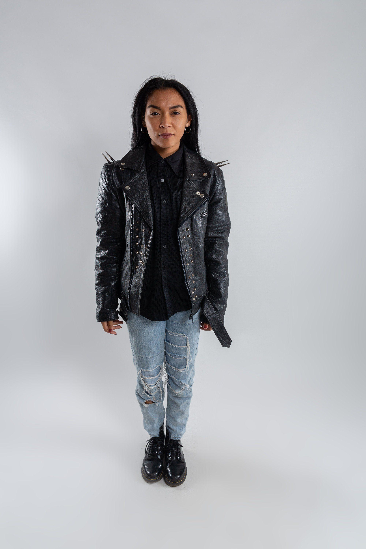 Vintage Studded Biker Jacket Black Leather Motorcycle Jacket Etsy Black Leather Motorcycle Jacket Womens Leather Biker Jacket Leather Motorcycle Jacket [ 3000 x 2000 Pixel ]