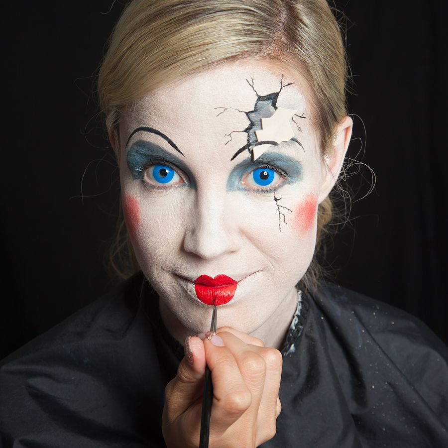 Halloween makeup brokendoll schminkanleitung halloween