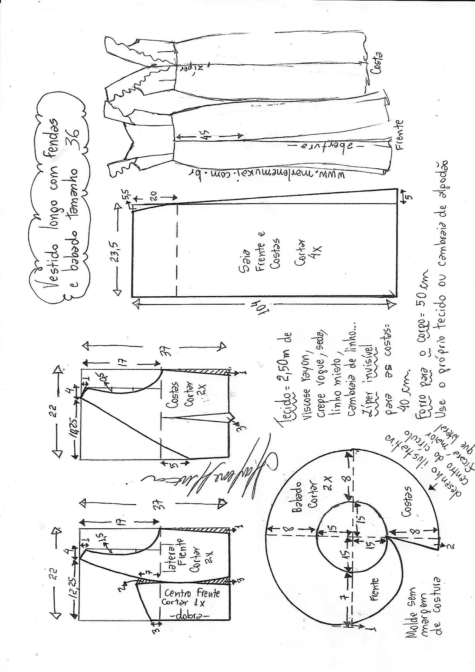 vestido.lomgo_.fenda_.babado-36.jpg (1654×2338) | vestidos ...