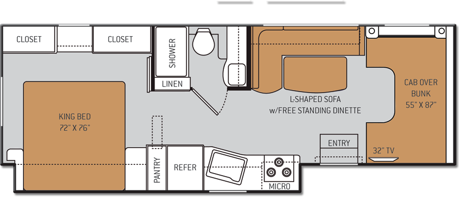 Small Class C Rv With Big Spaces 22e Chateau Motorhomes