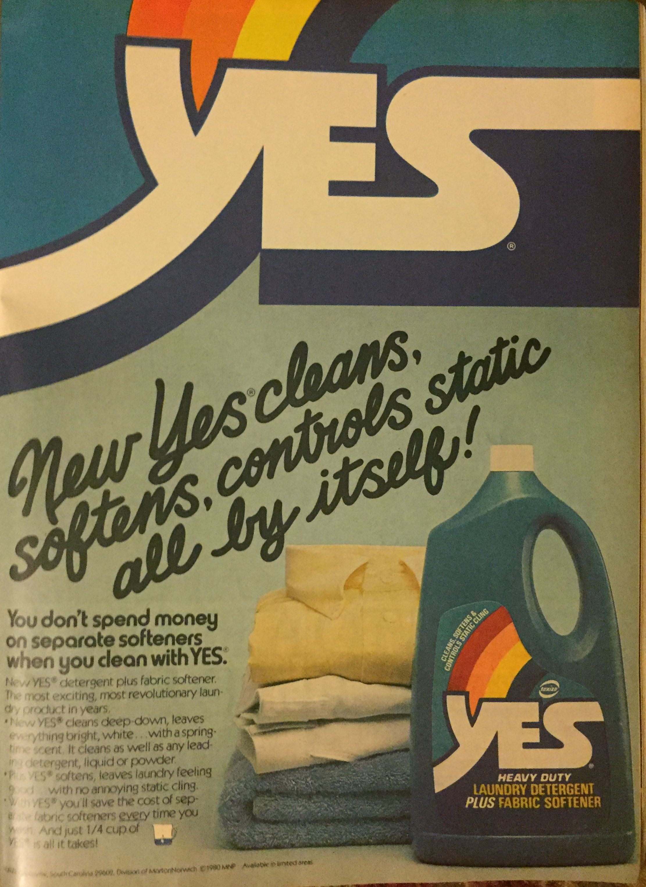yes laundry detergent ad