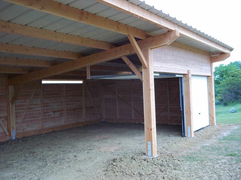 Abris Ouverts Construire Abri Bois Abri Pour Voiture Pergola Hangar A Bois
