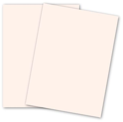 Basis Colors 8 5 X 11 Cardstock Paper Soft Pink 80lb Cover
