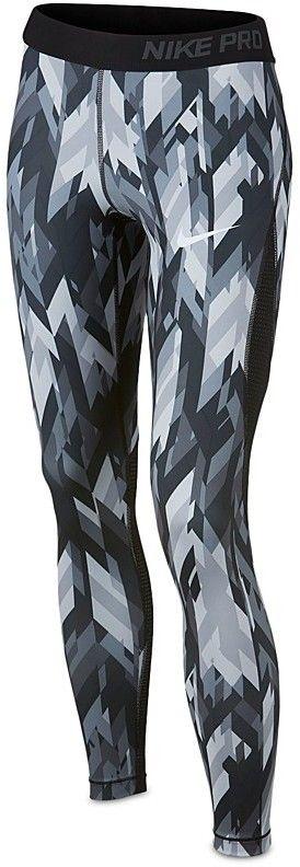 Nike Girls' Pro Dri-Fit Geo Print Capri Leggings - Big Kid