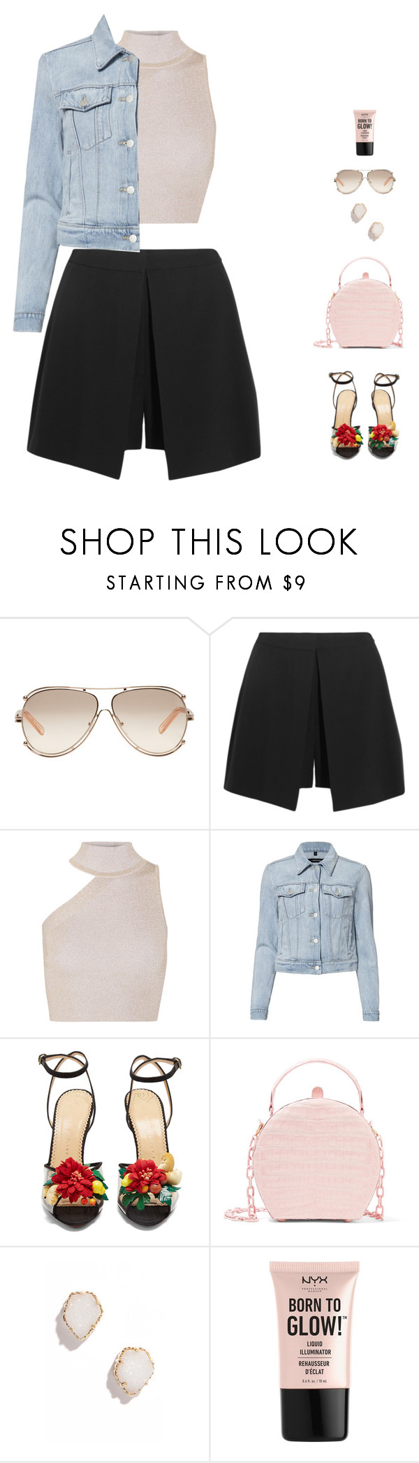 """""""casual elegance"""" by candynena228 ❤ liked on Polyvore featuring Chloé, Alexander McQueen, Cushnie Et Ochs, J Brand, Charlotte Olympia, Nancy Gonzalez, Kendra Scott and NYX"""