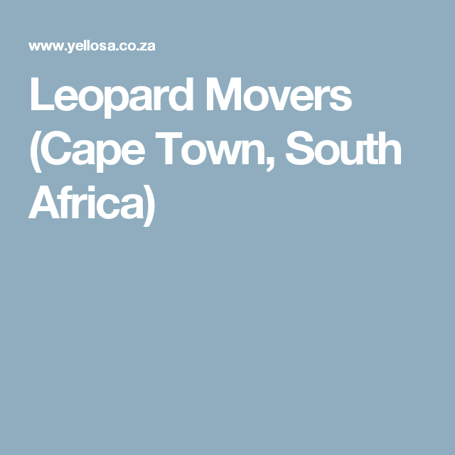Leopard Movers  (Cape Town, South Africa)