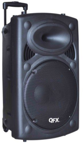 portable speakers system. qfx portable tailgate bluetooth speaker system with woofer speakers o