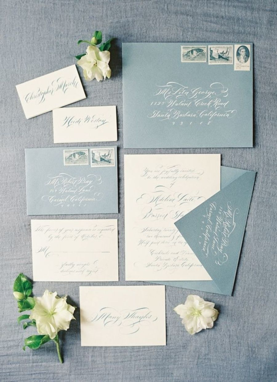 How To Create A Beautiful Dusty Blue Wedding | Invites ...