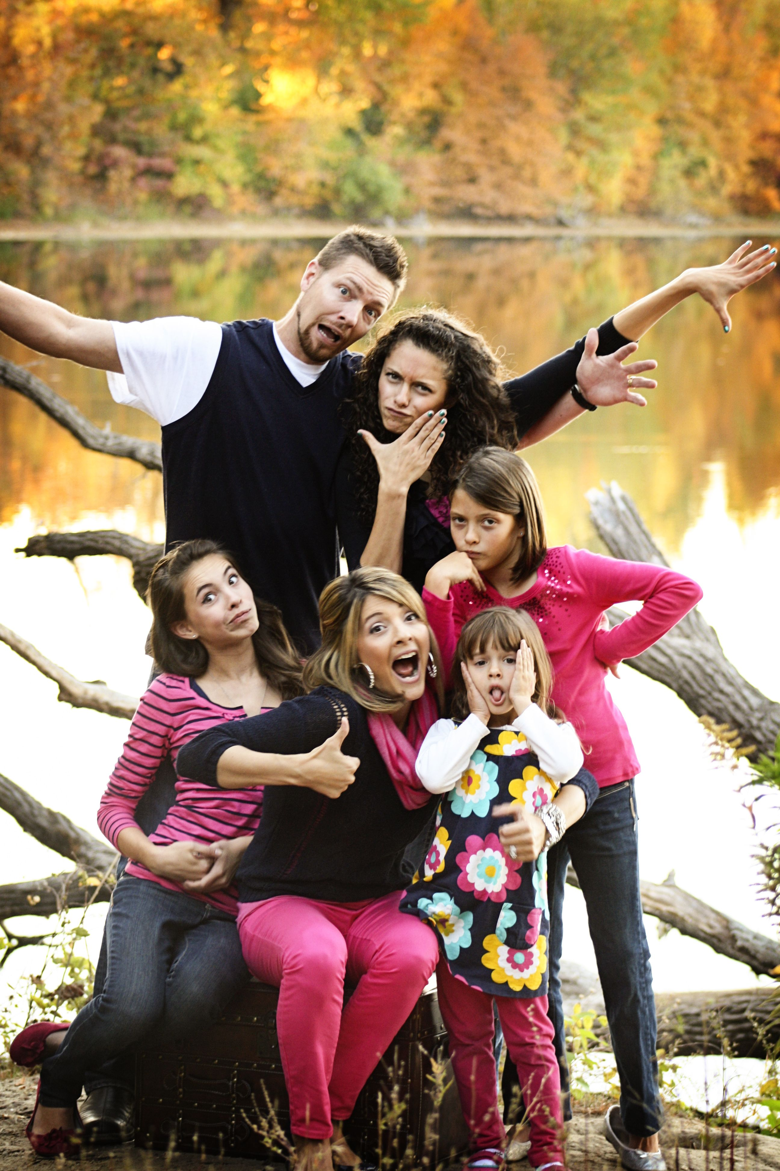 Wacky family photos. Cuz this is more what we're like
