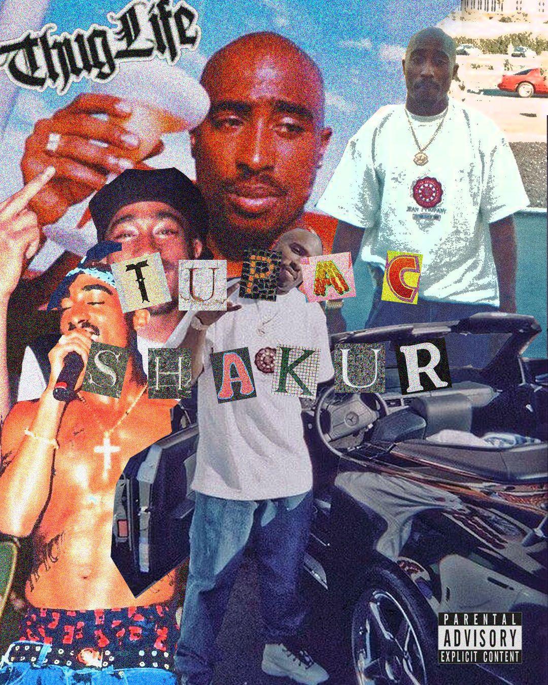 Tupac Shakur Collage Aesthetic Tupac Wallpaper Tupac Art Tupac Poster [ 1350 x 1080 Pixel ]