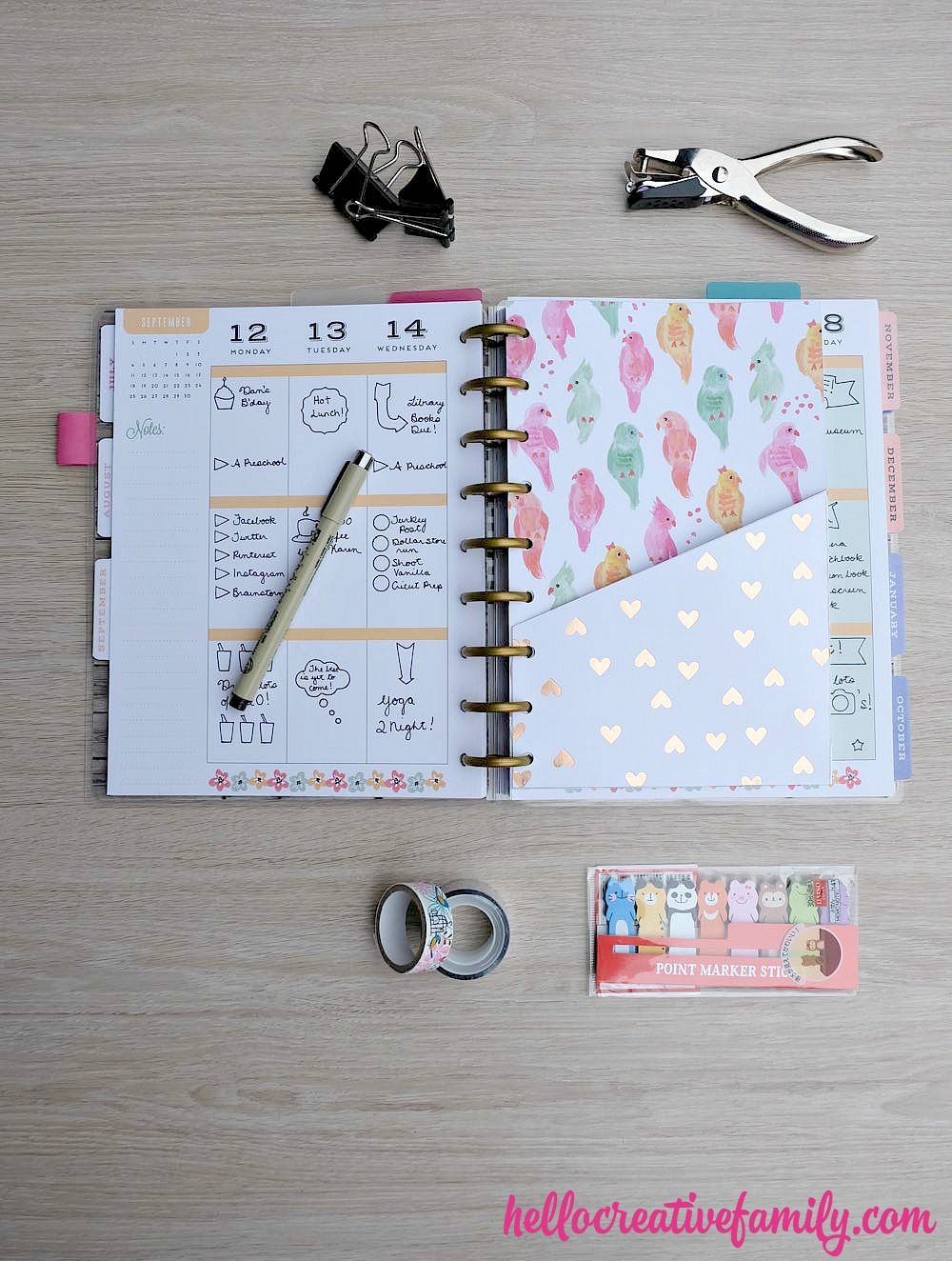 How To Make DIY Planner Folder Pockets (Perfect For Happy