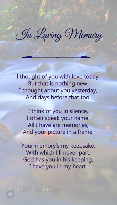 Popular Sympathy Memorial And Funeral Poems Funeral