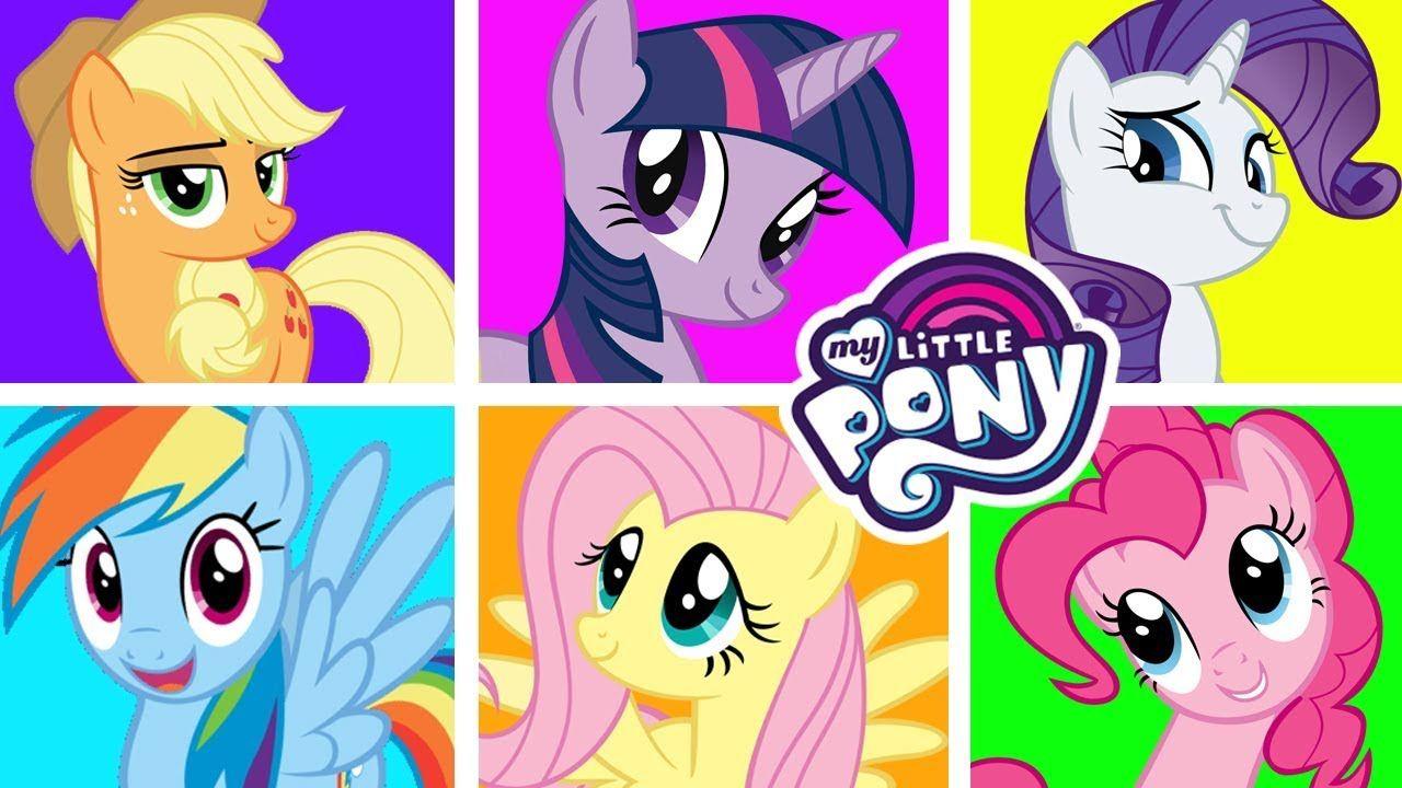 My Little Pony меняются цветами. Раскраска для детей ...
