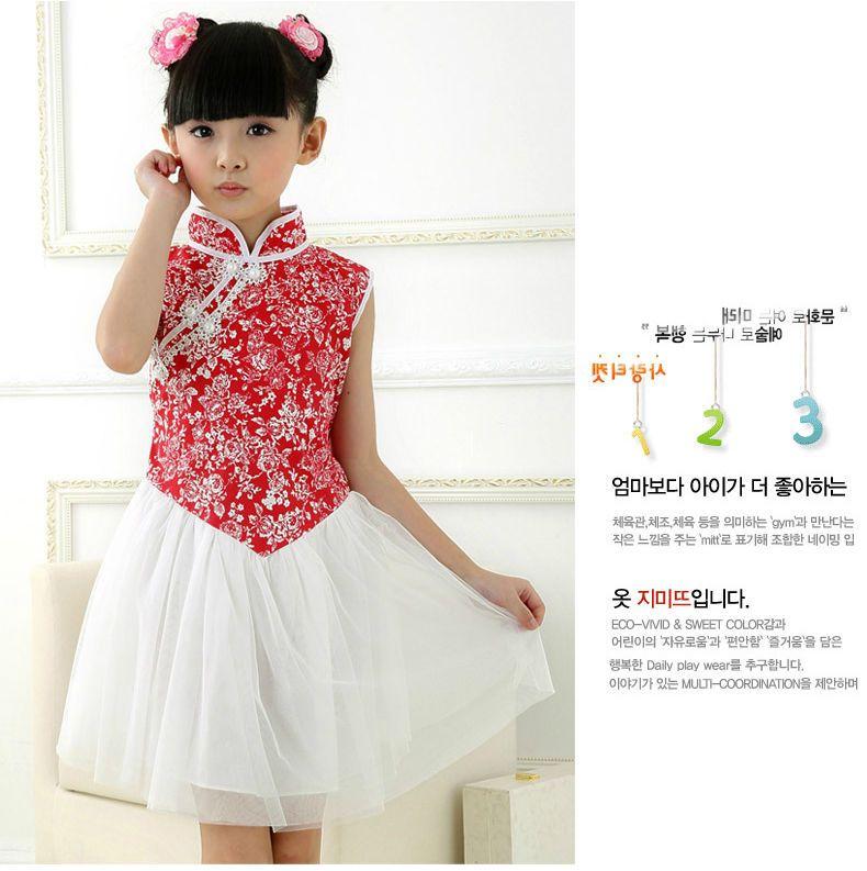 b2cb692928 Chinese Cheongsam Girls Christmas Dresses Size 5