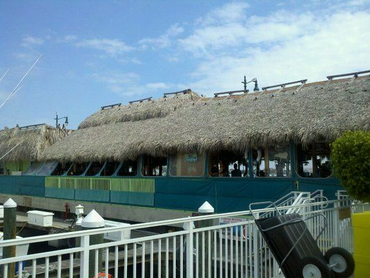 Original Tiki Bar Right on the water Celebrated mom's 90th