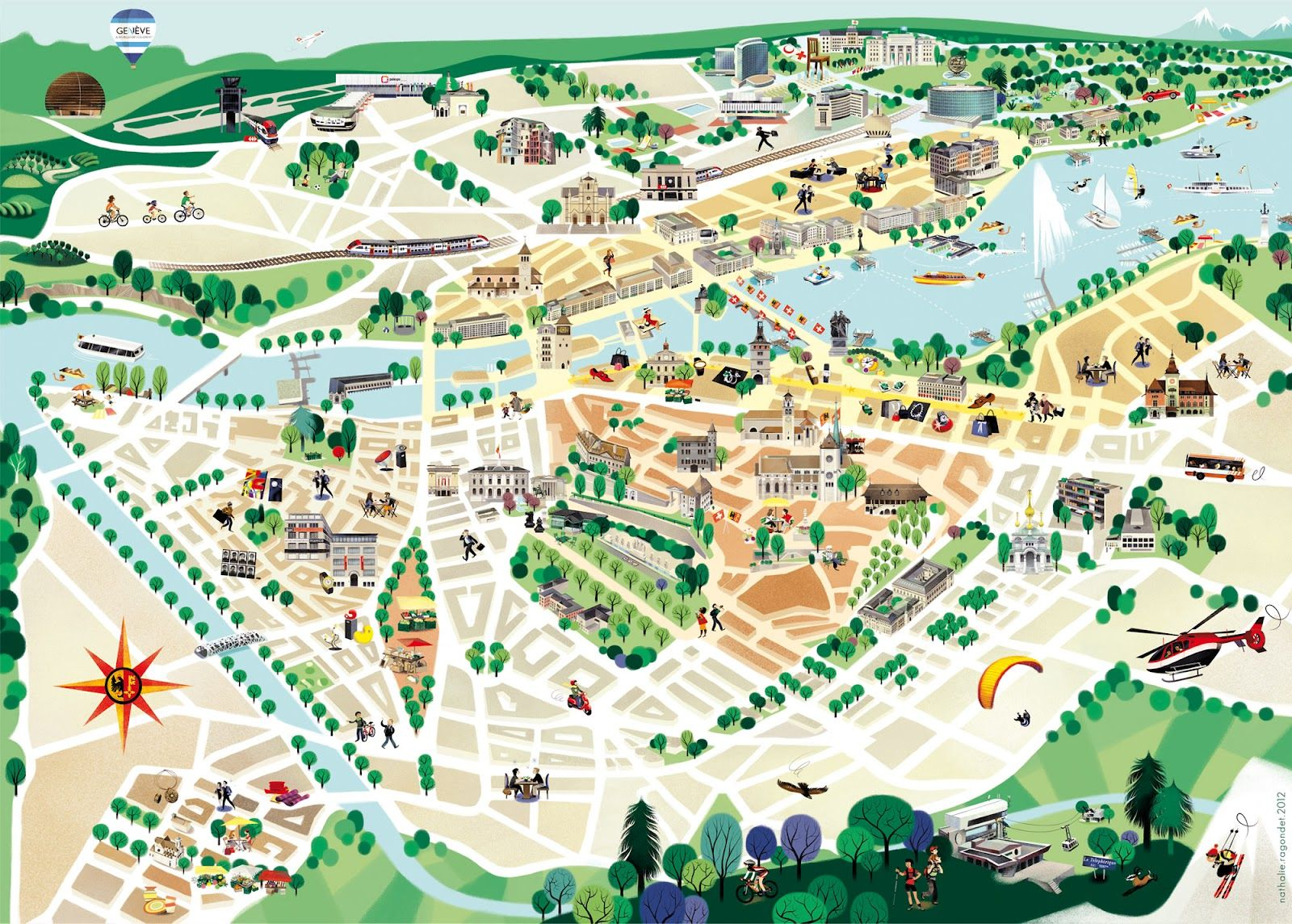The Future Freaks Me Out Illustrated Map City Maps Illustration
