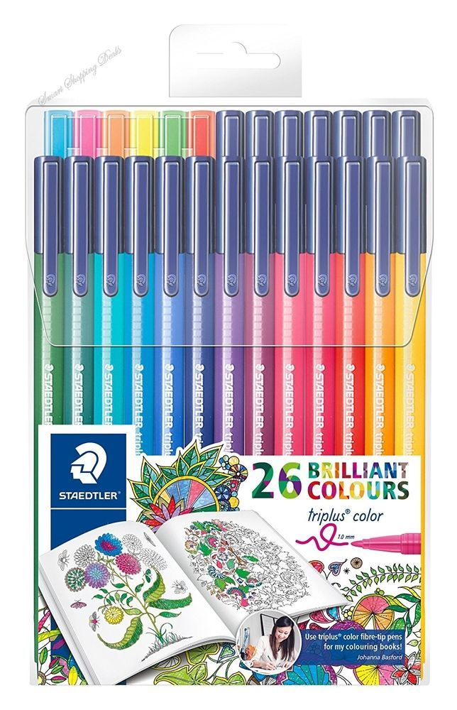 26 Color Pens For Adults Fiber Tip Pen Art Supplies Drawing