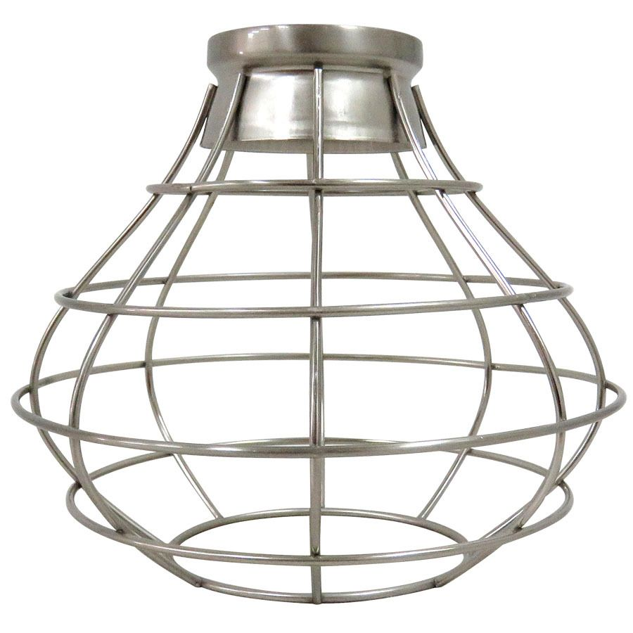Portfolio 838 in h 838 in w brushed nickel industrial cage portfolio 838 in h 838 in w brushed nickel industrial cage pendant light shade mozeypictures Image collections
