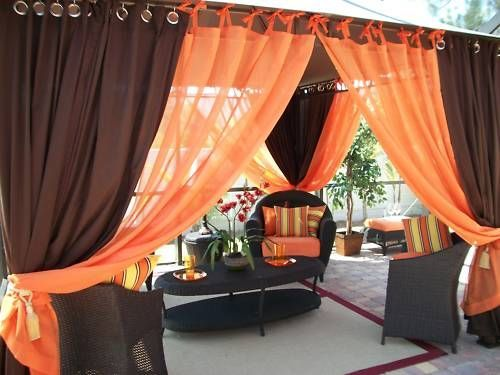 Good Patio Pizazz Indoor Outdoor Gazebo Drapes Curtains Price Includes 2 Panels  | EBay