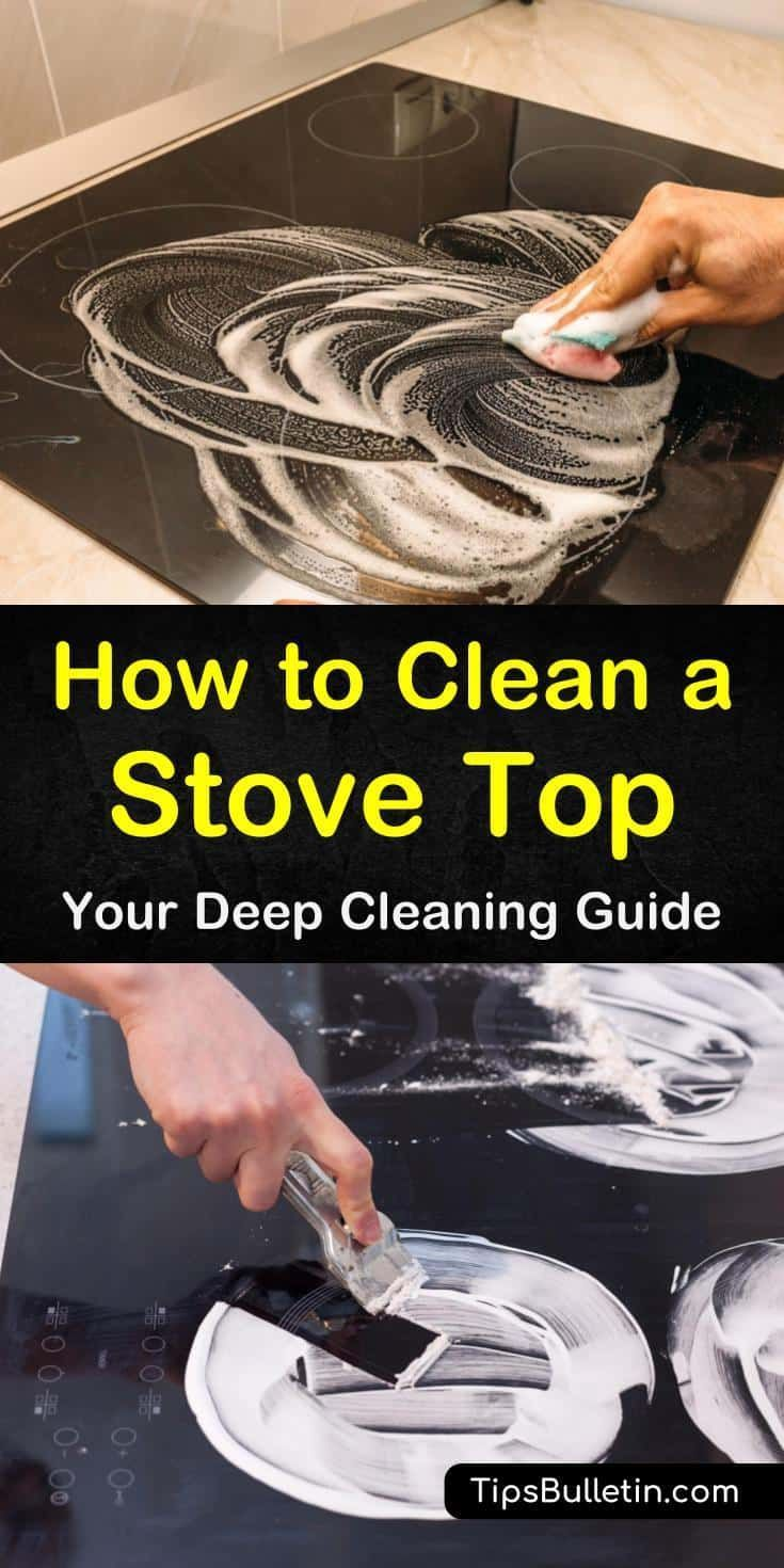 Find out how to clean a stove top from burners to grates