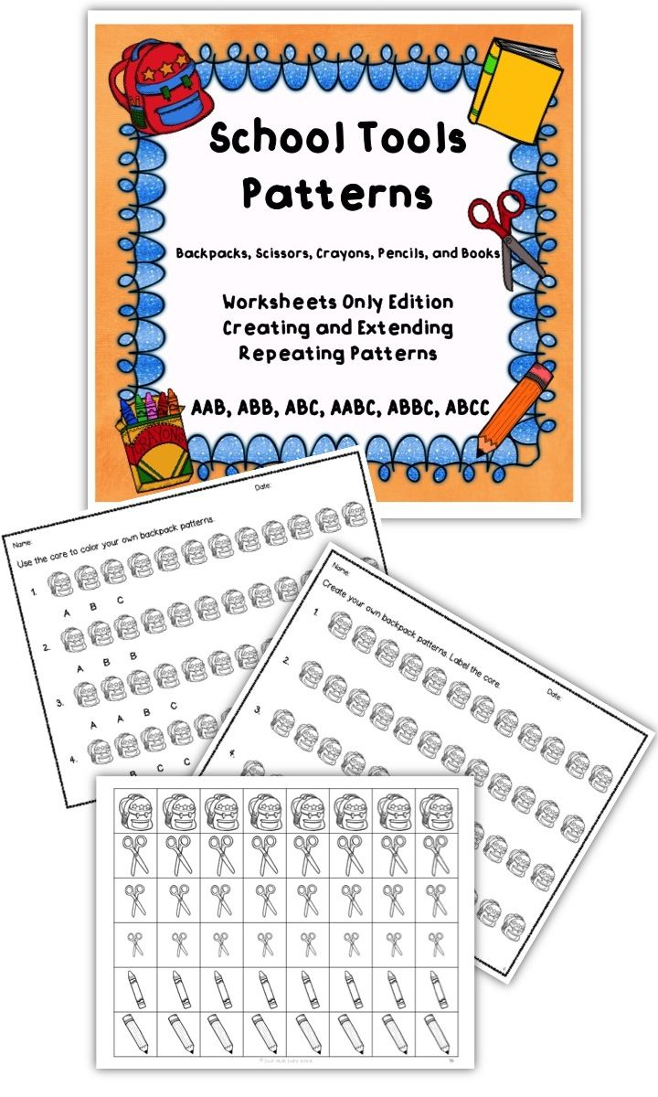 These Black And White Worksheets Can Be Used To Supplement Your Instructional Unit On Repeating Patterns Pattern Worksheet School Tool Repeating Patterns [ 1200 x 720 Pixel ]