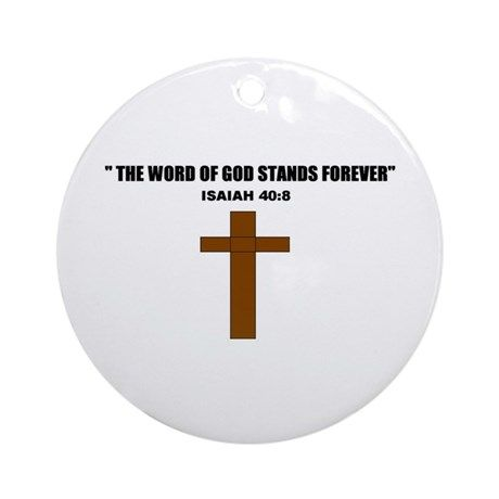 THE WORD OF GOD (CROSS) Ornament (Round)