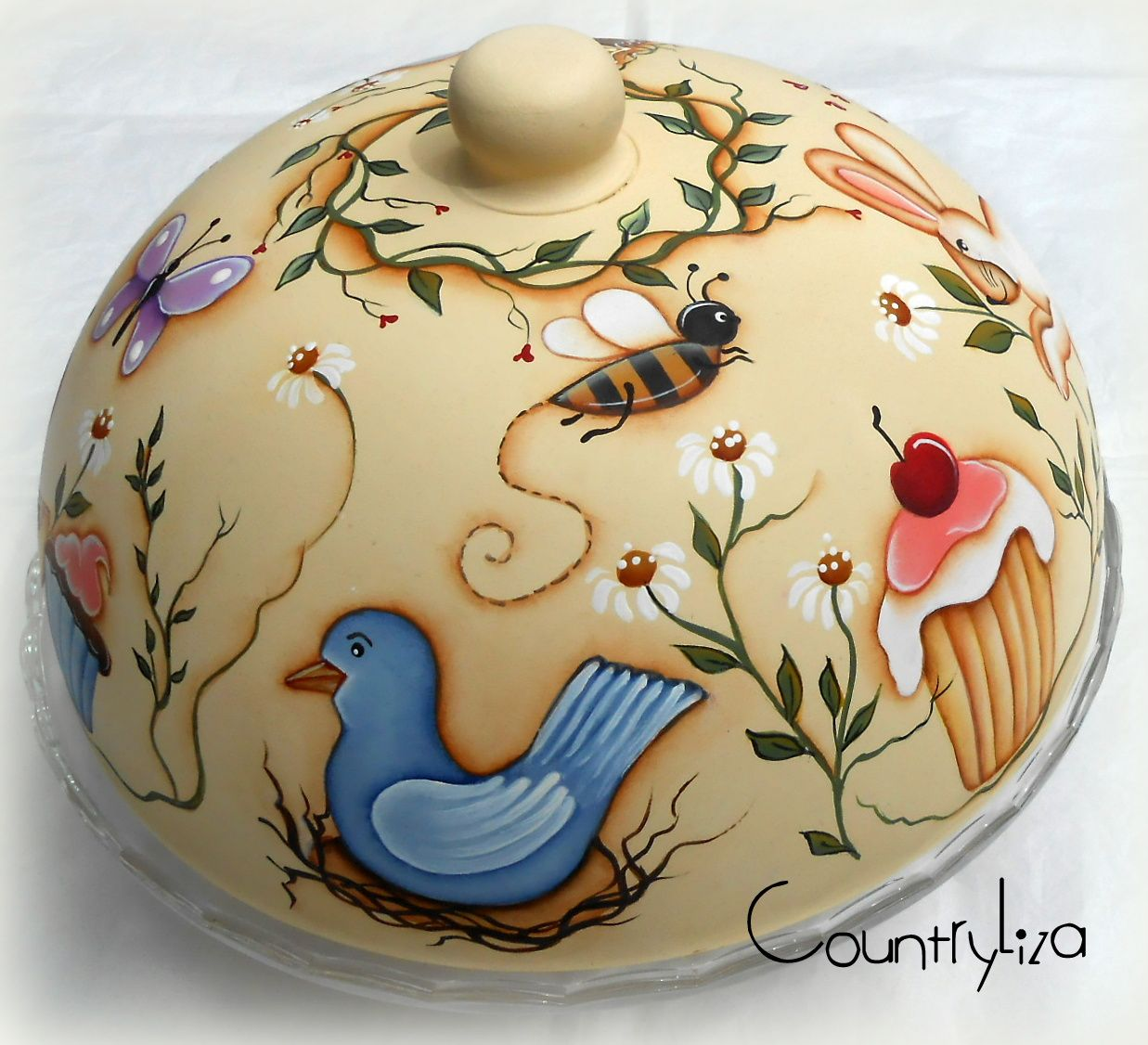 alzatina per dolci | Cake carrier, Painted teapot, Cake plates