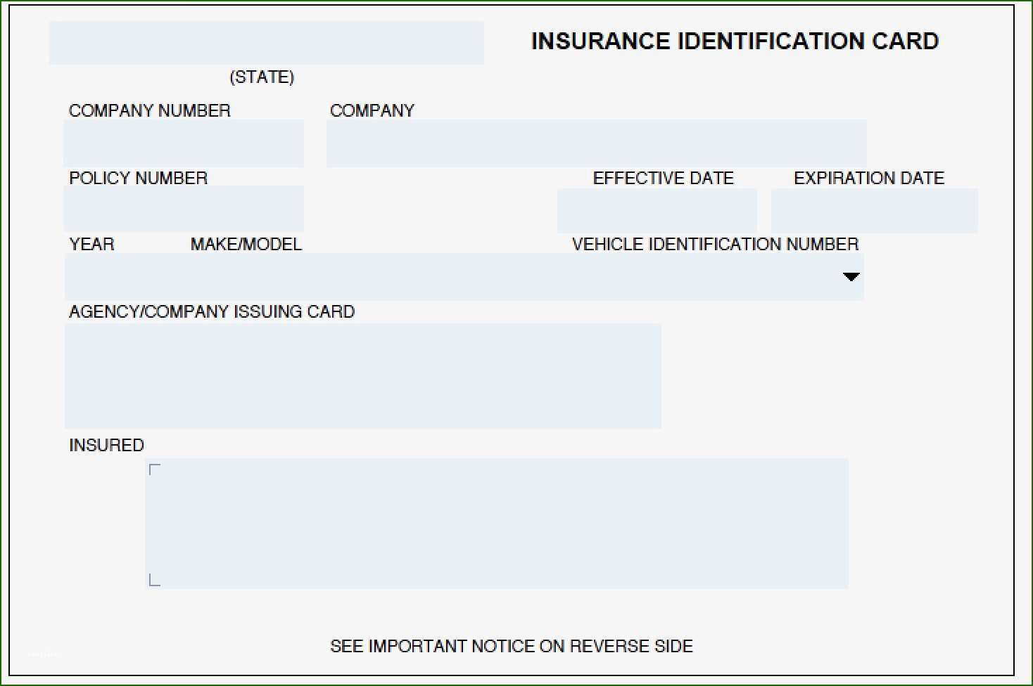 Geico Insurance Card Template 14 Recommendation 2020 Templates Progressive Insurance Templates Printable Free