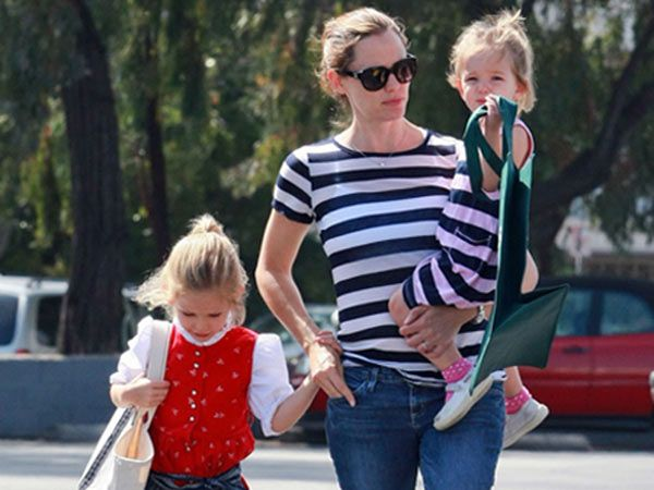 Violet and Seraphina: Going west, Ben Affleck and Jennifer  Garner's kids Violet and Seraphina, age seven and four respectively,  take martial arts training and are very enthusiastic about the  activity. Karate is their thing and they believe that it is a good way  for self defense.