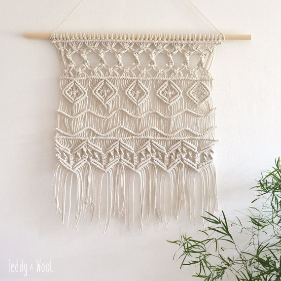 Large Macrame Wall Hanging Macrame Wall Tapestry by TeddyandWool