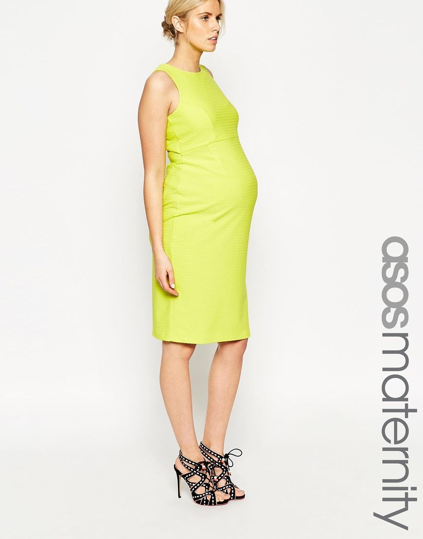 5cec0a2404ac8 ASOS Maternity Textured Bodycon Dress With Cut Out Back | children ...