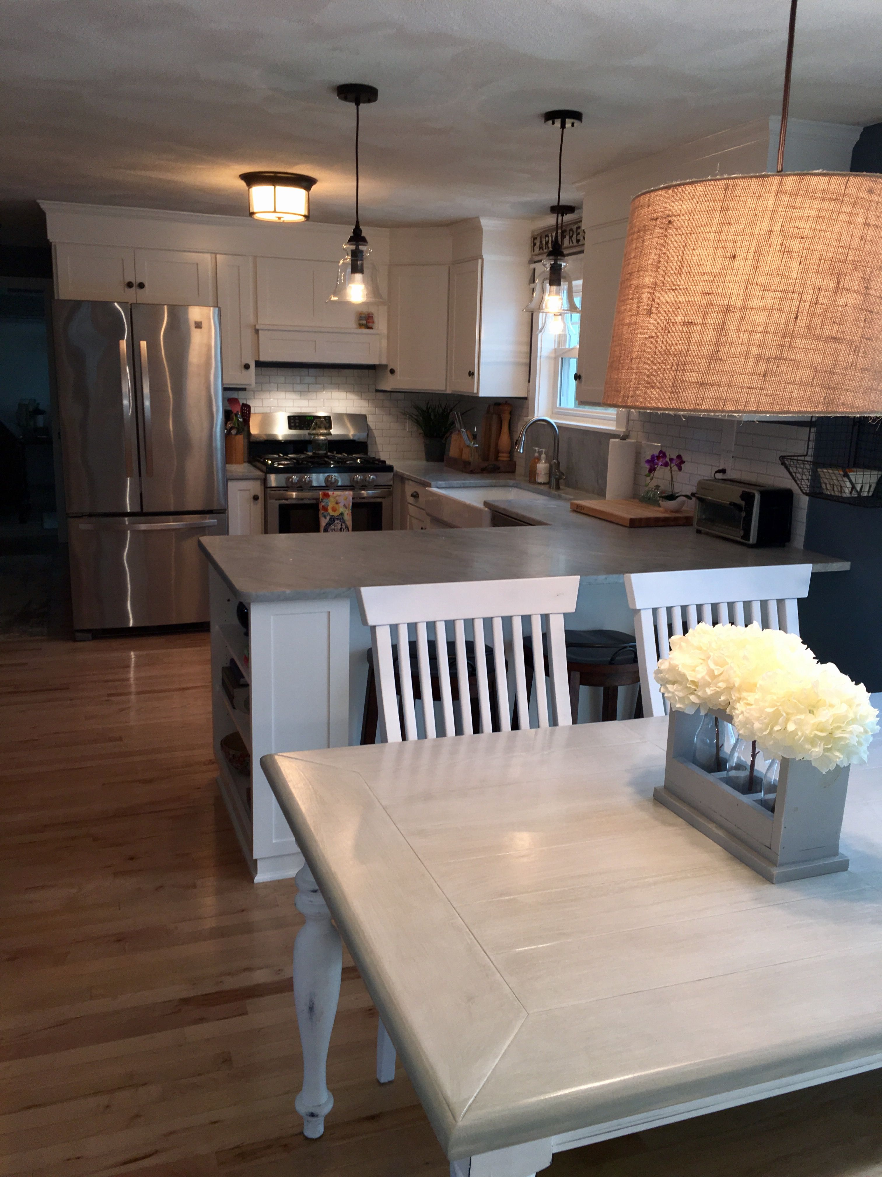kitchen remodel adirondack blue behr wall color simply white