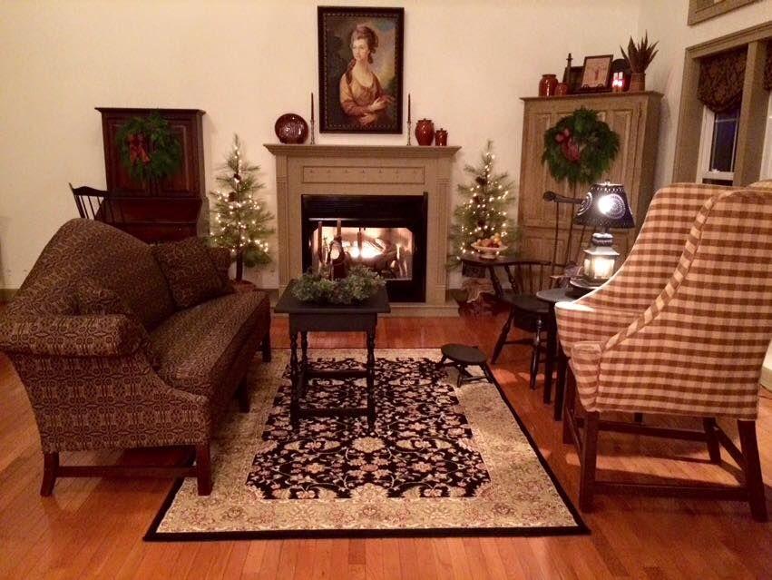Primitive Colonial Home Inspiration Pinterest Colonial Primitive Living Room And Primitive