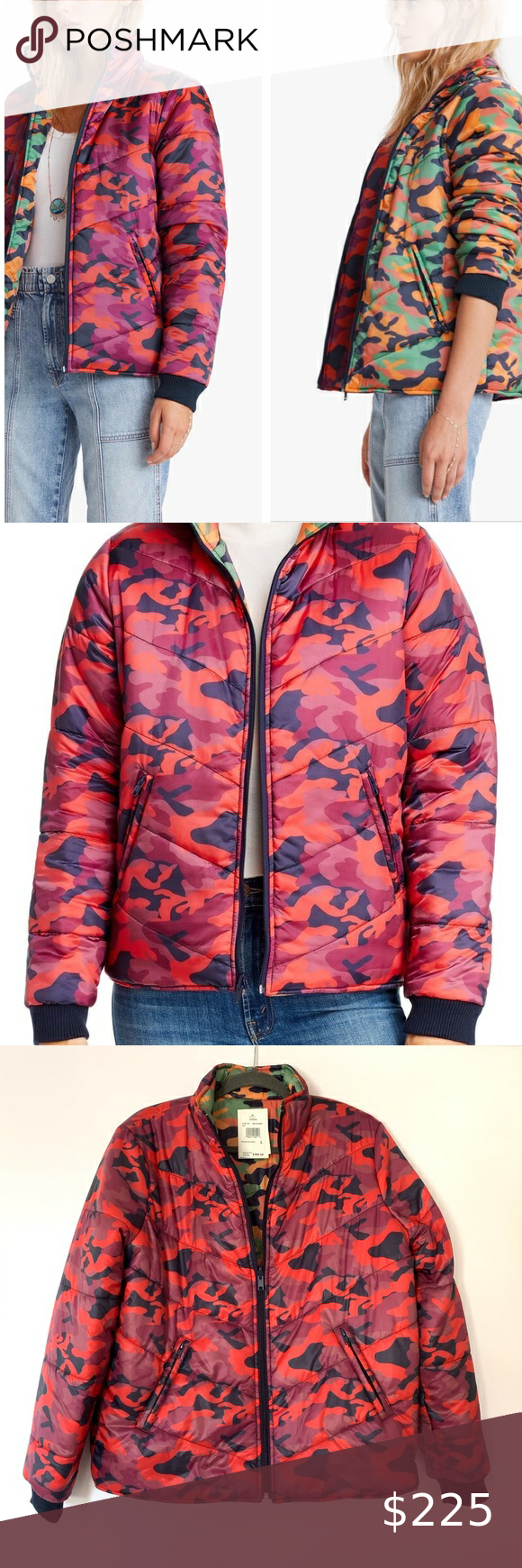 Sold Mother 2faced Reversible Camo Puffer Jacket Camo Puffer Jacket Puffer Jackets Jackets [ 1740 x 580 Pixel ]