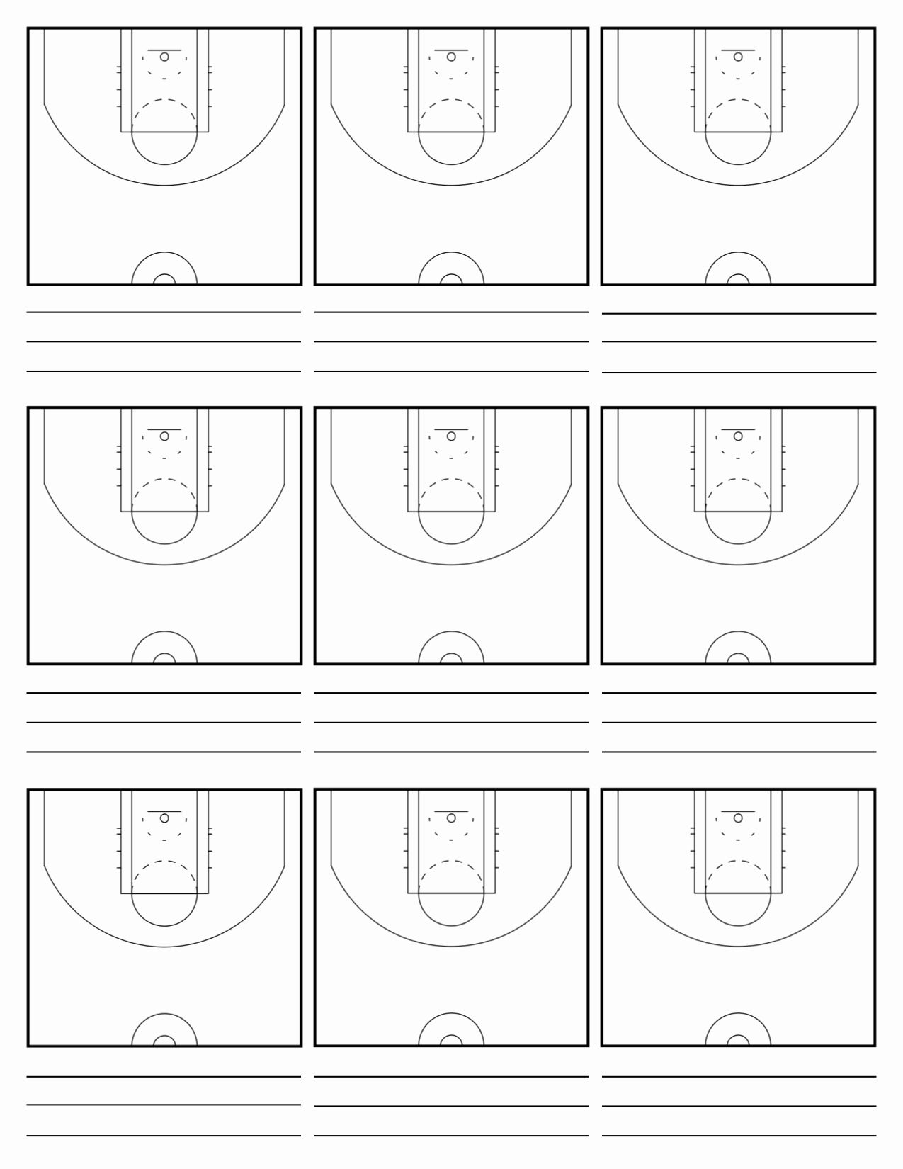 Halfcourt Basketball Diagram : halfcourt, basketball, diagram, Blank, Basketball, Practice, Template, Awesome, Court, Diagrams, Plays, Plays,, Plans,