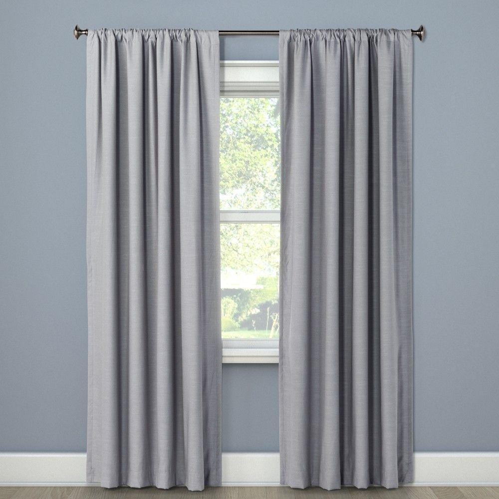 "Blackout Curtain Panel Masonry Gray 63"""