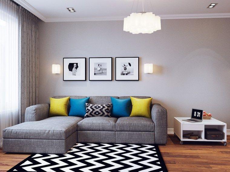 Decorar Salon Pequeno Con Estilo Y Modernidad Ideas Para Sala - Decorar-salon-moderno-fotos
