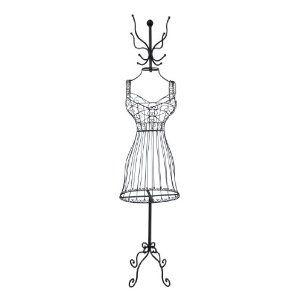 Metal Dress Form Coat Rack Vintage Room Rustic Chic Dress Form