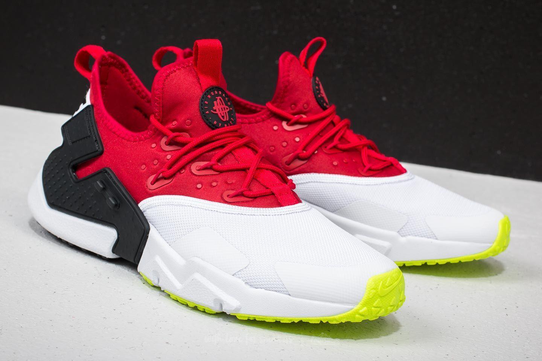 Nike Air Huarache Drift Gym Red/ White-Black-Volt Mens Sneakers ...
