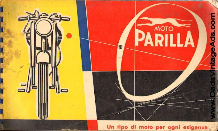 Circa 1958 Moto Parilla vintage Italian motorcycle catalog » www.DadsCycleMags.com