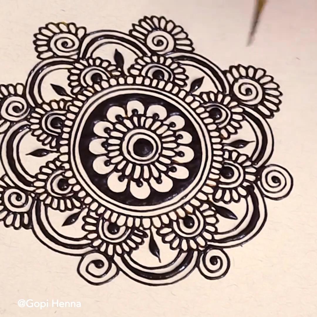 Easy Henna Mandala for Beginner