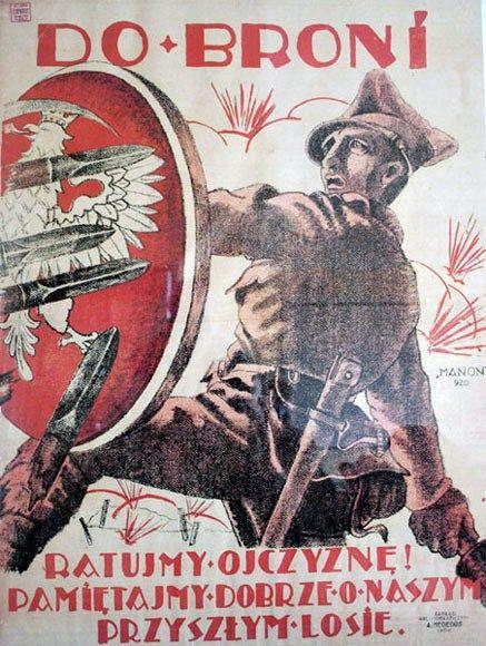 Polish Soviet Propaganda Poster 1920 Polish Polish