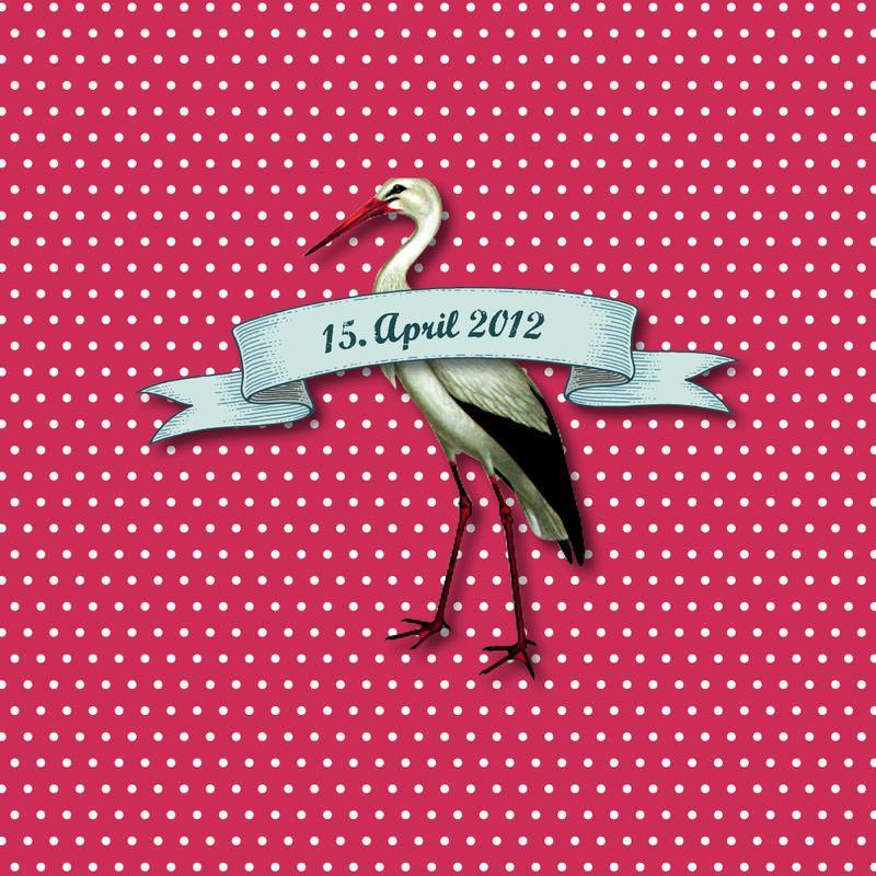 Geburtskarte / Faire-part de naissance «CIGOGNE» #cardswithlove