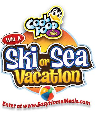 "Our Cool Food for Kids ""Ski or Sea Vacation"" Sweepstakes will begin in September 2013. Check back soon!"
