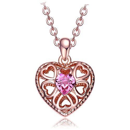 Valentines Day Gift for Her Eternal Love Womens Heart Pendant Necklace Crystal  #ValentinesNecklace