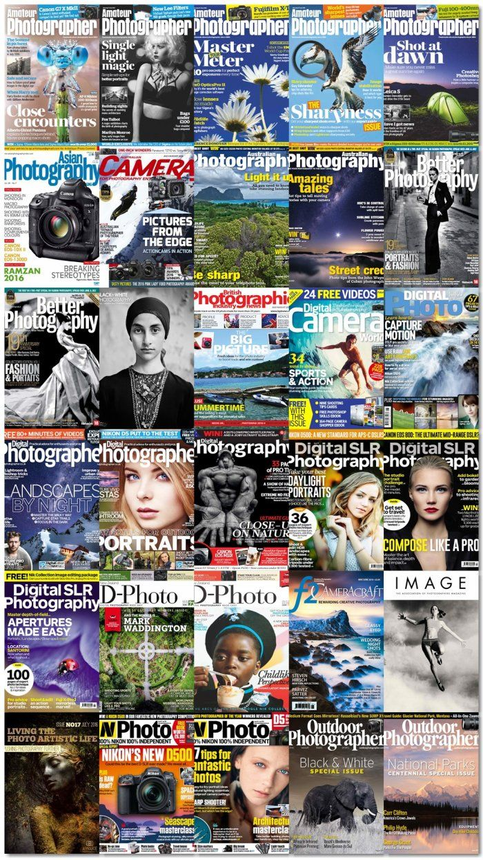 Photography magazines bundle  summer 2016  Volumen 1 (A-O)  30 issues  Photography