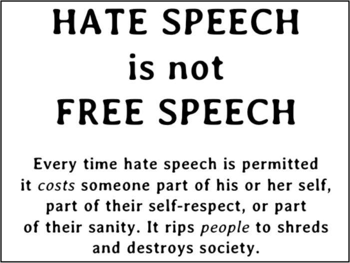 Hatespeechxjpg   Birthday Wish  Pinterest  Hate Speech Essay British Police Look Into A Political Speech As Hate Speech