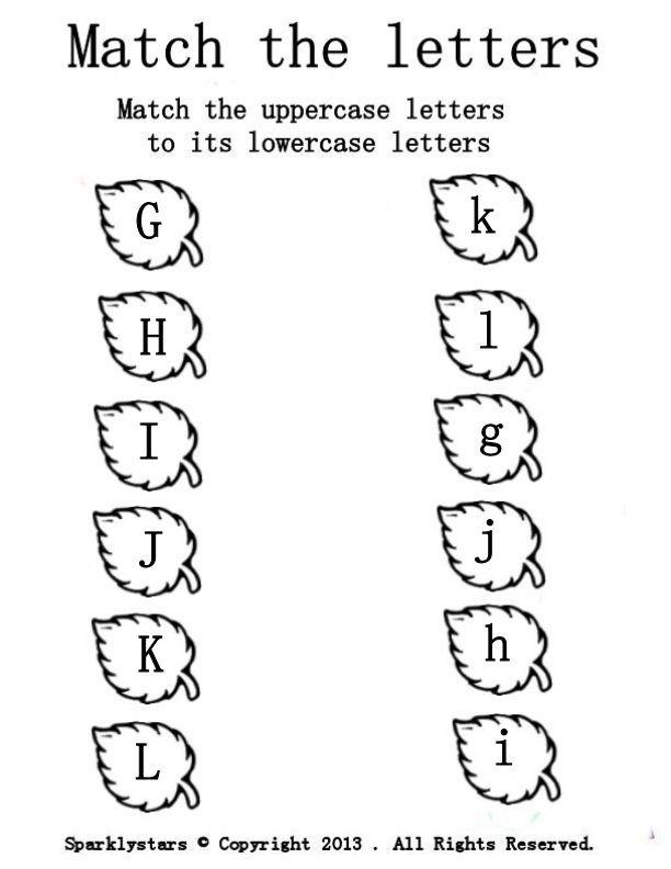 letter-match-g-l.jpg (612×792)   Pre-K kids :)   Pinterest